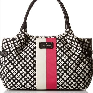 NWT KATE SPADE STEVIE CLASSIC BLK/WH MSRP$348